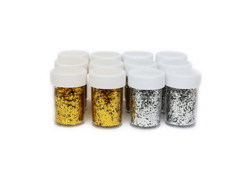 Глиттер/блестки 3мм (серебро-золото)