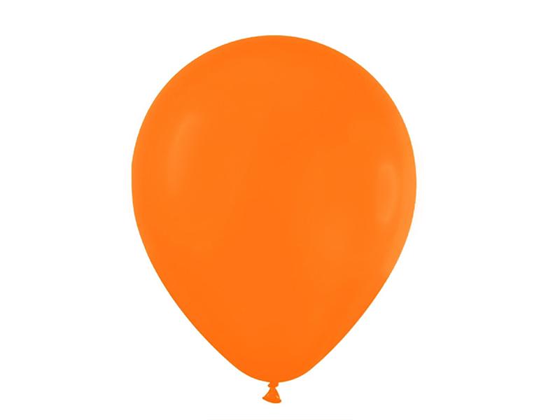 Шарики воздушные матовые (цв. оранжевый)