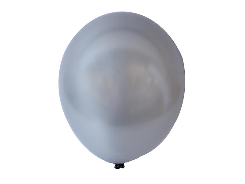 Шарики воздушные перламутровые (цв. серебро)